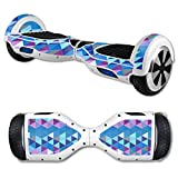 MightySkins Protective Vinyl Skin Decal for Hover Board Self Balancing Scooter mini 2 wheel x1 razor wrap cover Purple Kaleidoscope