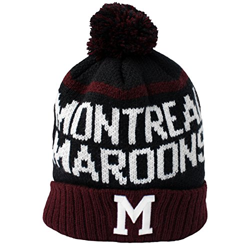 Montreal Maroons Vintage Linesman Cuff Knit Hat (One-Size)