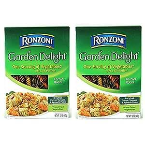 Ronzoni Garden Delight Tricolor Rotini Net Wt. 12 Oz (Pack of 2)