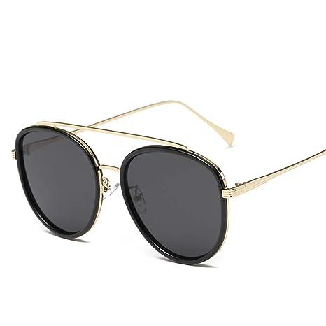 AREDOVL Gafas de Sol de Doble Puente de Gran tamaño para ...