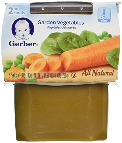 Gerber 2nd Foods Garden Vegetable, 4 Ounce Tubs, 2 Count (Pack of 8)