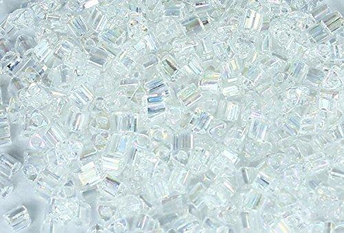 11/0 Triangle TOHO Japanese Glass Seed Beads #161-Trans-Rainbow Crystal 15g