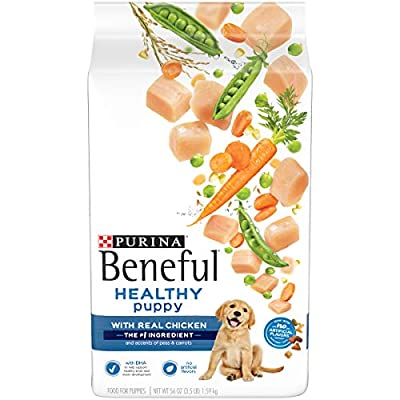Purina Beneful Dry Puppy Food, Healthy Puppy With Real Chicken - (4) 3.5 lb. Bags