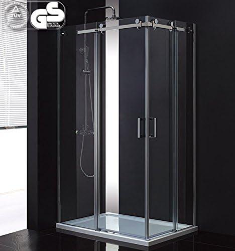 LUX Aqua ducha deslizante Mampara de ducha con vidrio de puerta ...