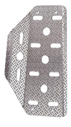 Sparco 03780AN Dead Embossed Silver Pedal