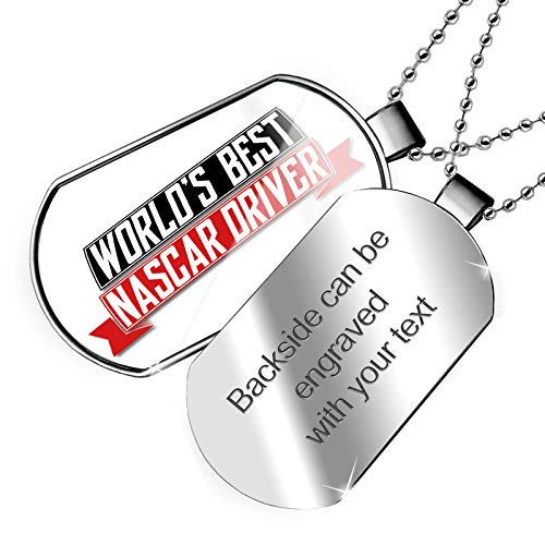 NEONBLOND Personalized Name Engraved Worlds Best Nascar Driver Dogtag ()