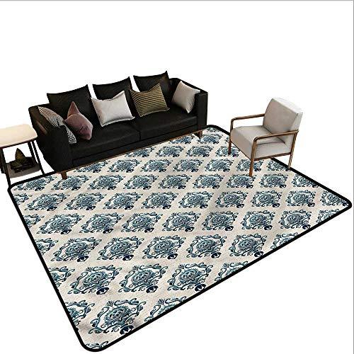 - Damask,Designed Kitchen Bathroom Floor Mat 36