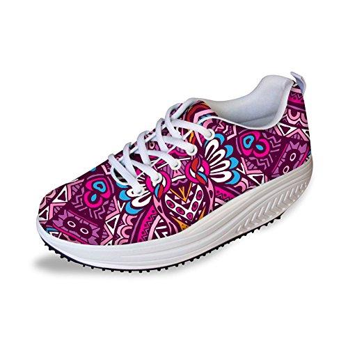 Kramar Idé Multi Danar Mesh Komfort Sneakers Rosa