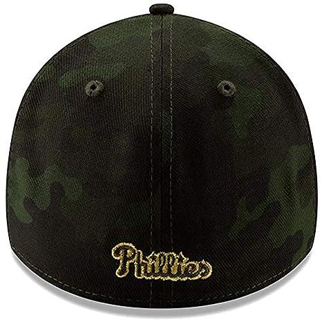 quality design 66c09 21bff Amazon.com   New Era Philadelphia Phillies 2019 MLB Armed Forces Day  39THIRTY Flex Hat - Camo   Clothing