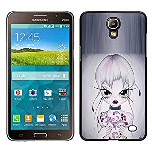 Caucho caso de Shell duro de la cubierta de accesorios de protección BY RAYDREAMMM - Samsung Galaxy Mega 2 - Muchacha Hermosa Oriental