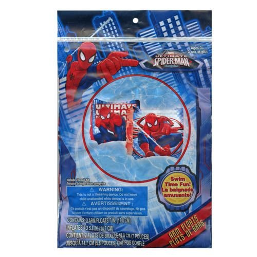 Marvel Spider-Man Inflatable Swim Summer Fun Package Deal (Floaties, Beach Ball, Swim Ring, Mallet, Sword, Raft) by Marvel (Image #3)