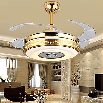 Ventilador de techo con luz LED de 7 colores, para comedor, sala ...