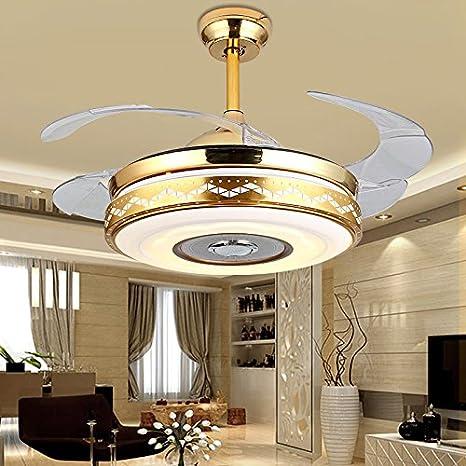 Ventilador de techo con luz LED de 7 colores, para comedor ...
