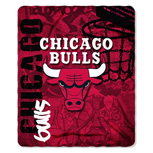 NBA Chicago Bulls Hard Knocks Printed Fleece Throw, 50-inch by 60-inch