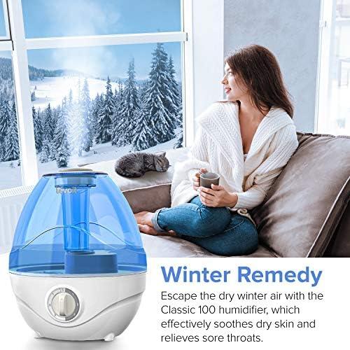 51LzedVC%2BRL. AC - LEVOIT Cool Mist Humidifiers For Bedroom, 2.4L Ultrasonic Air Vaporizer For Babies [BPA Free], 24dB Ultra Quiet, Optional Night Light, Filterless, 0.63gal, Blue