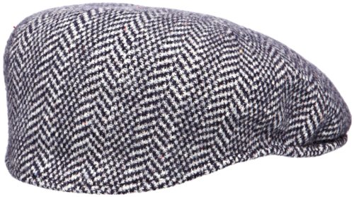 Kangol Unisex-Adults Wool Herringbone 504 Cap, Dark Blue, L (Kangol 504 Wool Cap Hat)