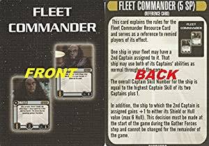 Star Trek Attack Wing Klingon Civil War Storyline Op Kit 1 Fleet Commander Card