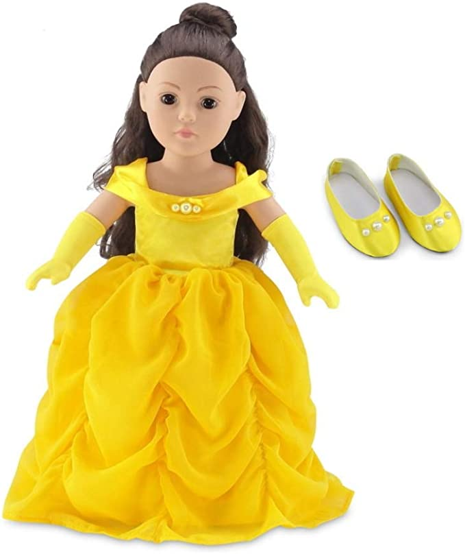 ebuddy Frozen Inspired Princess Sisters Costumes Doll Dress Set for 18 Inch American Girl