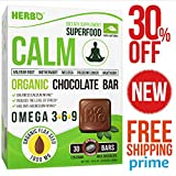 Natural Calm Supplement - Calm Anxiety - Supplemented with Magnesium and Calcium - Instant Diet Calm - Herbal Blend for Focus and Sleep Support - Calming Nerves and Mind - Chocolate to Relax