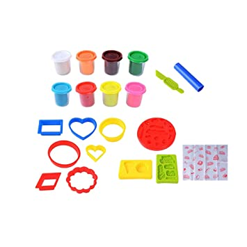 Toyvian Juego de Herramientas de Masa de Arcilla Cortadores Rodillos Modelos y moldes para niños Niños: Amazon.es: Juguetes y juegos