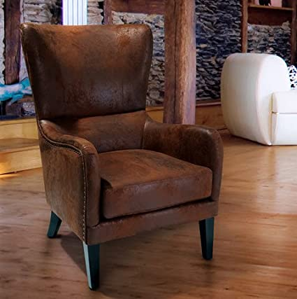 Beau Christopher Knight Home Lorenzo Leather Like Upholstered Fabric Studded  Club Chair Living Room Armchair