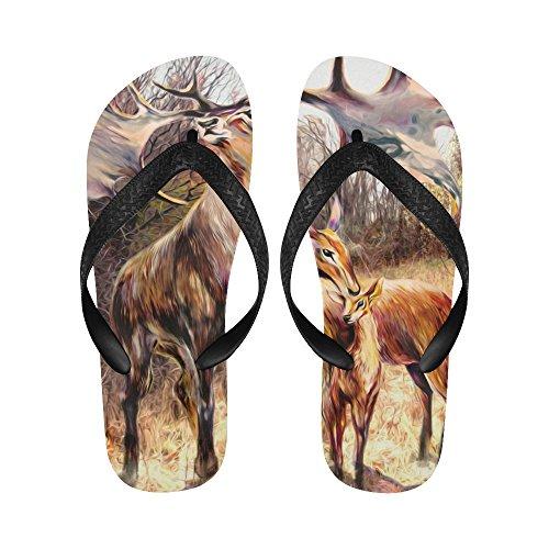 D-verhaal Familie Mooie Rendieren Flip Flops Strand Sandalen Voor Mannen / Vrouwen