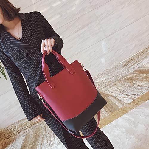 Tinta In Unita Da Pelle Borsa Donna Red Borse Ypsg Vera red Eleganti 7xwYqaAnX