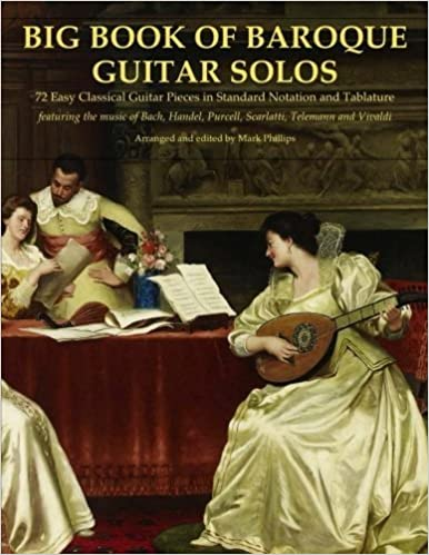 Book Big Book of Baroque Guitar Solos: 72 Easy Classical Guitar Pieces in Standard Notation and Tablature, Featuring the Music of Bach, Handel, Purcell, Telemann and Vivaldi by Mark Phillips (2015-10-06)