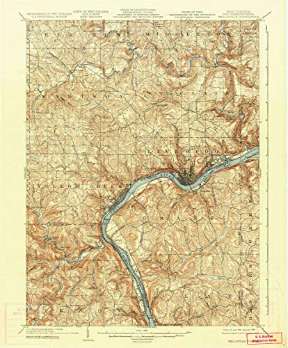 (Wellsville OH topo map, 1:62500 Scale, 15 X 15 Minute, Historical, 1904, Updated 1936, 19.9 x 16.5 in - Tyvek)