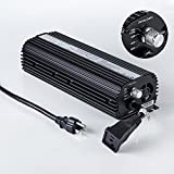 TopoLite Hydroponics DE CMH Various Digital Ballast 120/ 240V UL ETL Listed for Commercial Greenhouse Grow Light Kit System (Budget 600W with Fan)