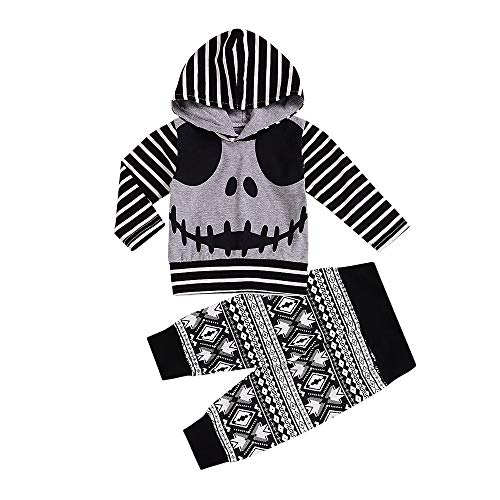 MODOQO Baby Boys Halloween Costumes, Long Sleeve Hoodies with Pants Outfits Set -