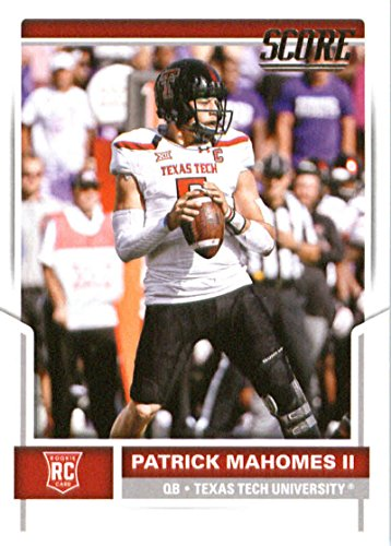 2017 Score #403 Patrick Mahomes Ii Texas Tech Red Raiders Rookie Football Card Kansas City Chiefs 1st Round Pick #10