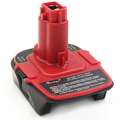 (Waitley Battery Adapter for Dewalt DCA1820 18V-20V Converter with USB Power Bank Function Compatible with DC9096)