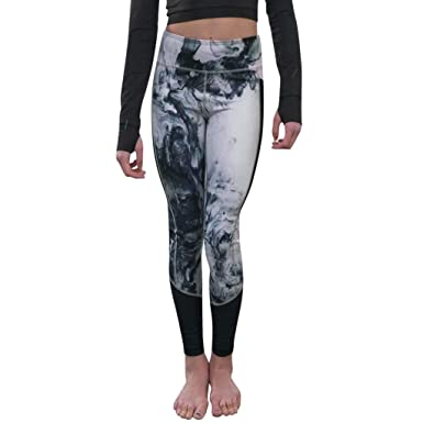 f293ded6681154 wodceeke Women Sports Pants, Floral Printed Yoga Pants Workout Gym Leggings  Running Striped Trousers (