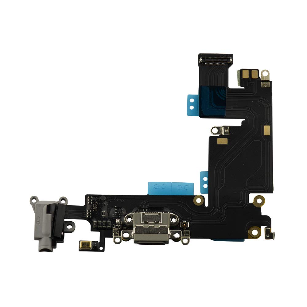 info for 9ab1a a7593 COHK USB Charging Dock Port Flex Cable with Microphone and Headphone Audio  Jack Assembly Replacement for iPhone 6 Plus (Gray)