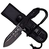 9″ G10 TACTICAL SURVIVAL Rambo Hunting FIXED BLADE KNIFE Army Bowie Combat For Sale