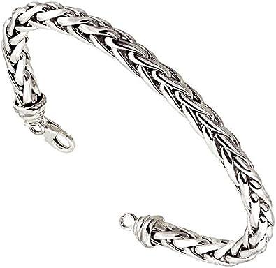 bracelet argent maille palmier