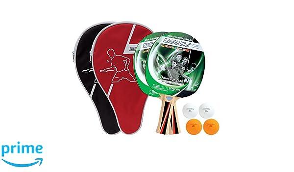 Donic-Schildkröt Raqueta de Tenis de Mesa Set Top Teams 400 2 3 Pelotas 2 Fundas, 788471: Amazon.es: Deportes y aire libre