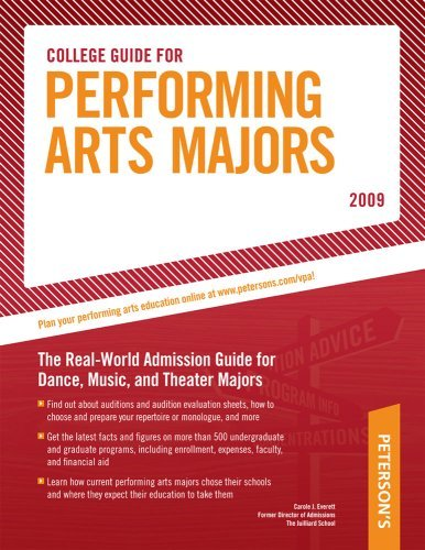 By Carole Everett - College Guide for Performing Arts Majors - 2009 (Peterson's Colle (14th Edition) (2008-09-27) [Paperback]