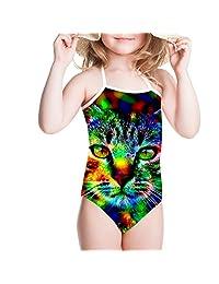 Showudesigns Swimwear Swimsuit One Piece Girls Bathing Suit Animal Pattern
