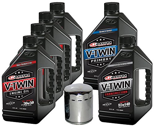 MaximaHiflofiltro VTTOCK13 Complete Engine Oil Change Kit for V-Twin Full Synthetic Harley Davidson Twin Cam, 6 Quart
