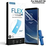 Galaxy S9 Screen Protector [2-Pack], Maxshield FlexPRO+Soft TPU Bubble-Free [Full-Coverage] Screen Protector with Super Easy Installation Kit for Samsung Galaxy S9 5.8 inch