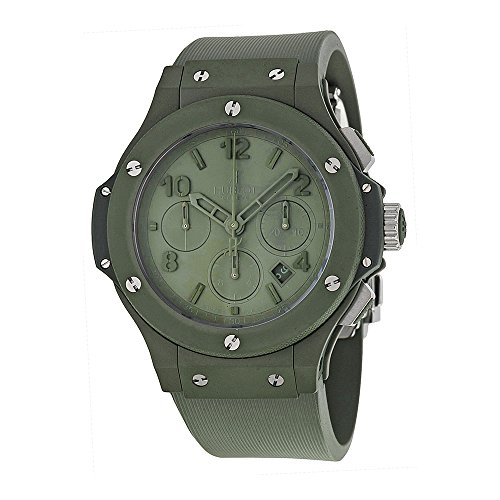 Hublot Big Bang Green Dial Green Ceramic Rubber Automatic Mens Watch 301GI5290RG