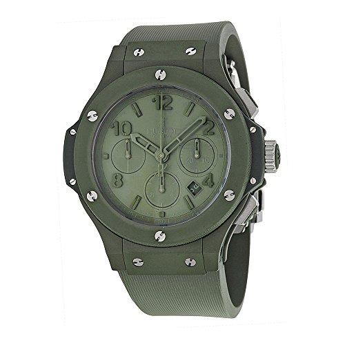 Hublot Big Bang Green Dial Green Ceramic Rubber Automatic Mens Watch 301GI5290RG