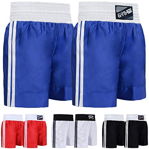 Farabi Pro Boxing Shorts for Boxing Training Punching, Sparring Fitness Gym Clothing Fairtex jiu jitsu MMA Muay Thai Kickboxing Equipment Trunks (Blue, M)