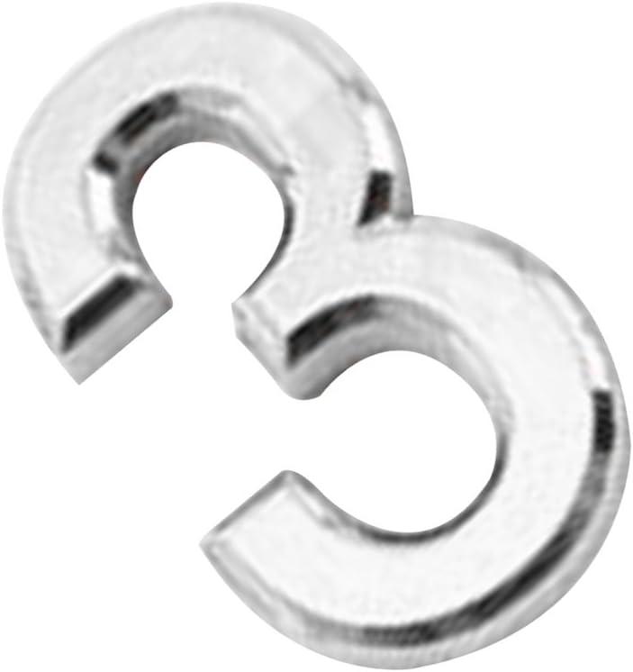 5X3X0.6cm Argent3 Moderne Argent//Or 3D Num/éro de Maison 0-9 Chiffre Auto-adh/ésif Pr Maison H/ôtel Plaque dimmatriculation-5X3X0.6cm
