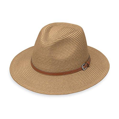 Wallaroo Hat Company Womens Naples Sun Hat - Colorful Paper Braid Fedora - UPF50+