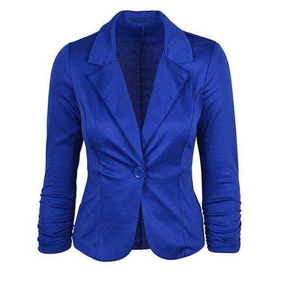 Luckycat Chaqueta de Traje - para Mujer (Azul, Pequeña)
