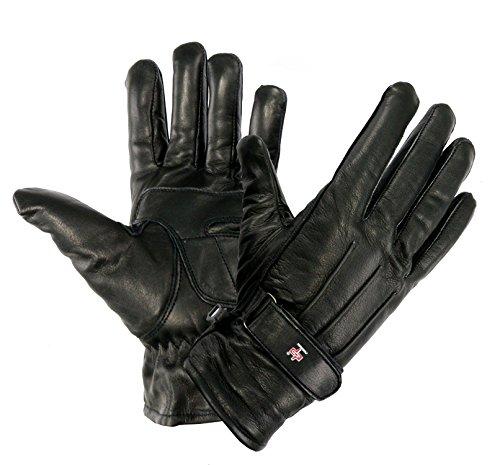 PERRINI Black Genuine Cowhide Leather Winter Gloves S - XXL