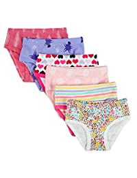 Closecret Kids Soft Cotton Toddler Panties Little Girls' Assorted Briefs(Pack of 6)